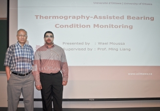 Wael Moussa with supervisor Dr. Ming Liang.